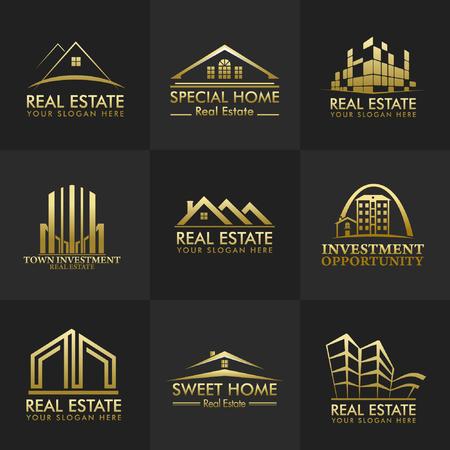 Real Estate Vector Logos Group Design Фото со стока - 58752029
