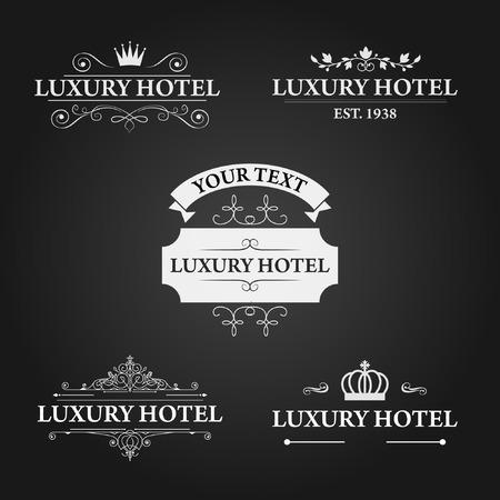 distinguished: Luxury Hotel in September Vector Logo Design Illustration