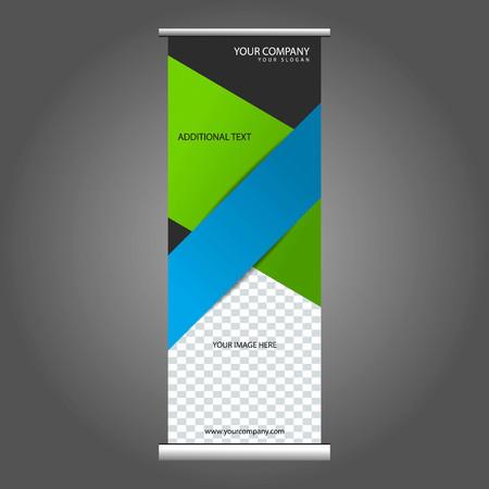 rollup: Business Vertical Roll-up Banner Vector Design