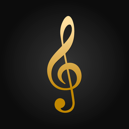 Beautiful Gold Treble Clef Vector Design