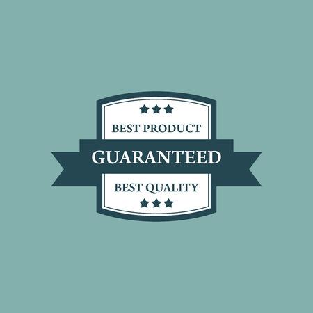 Guaranteed Products Tag Vector Design