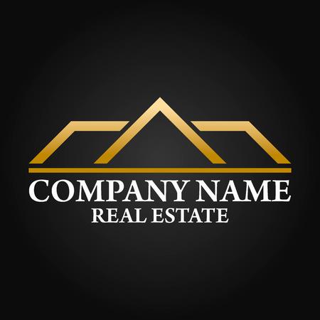 builder logo: Real Estate, Architecture and Construction Vector Logo Design