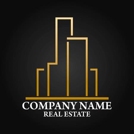 logos de empresas: Inmobiliaria, Arquitectura y Construcción del vector diseño de logotipos Vectores