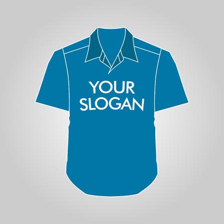 tshirt template: Front T-shirt Template Design Vector