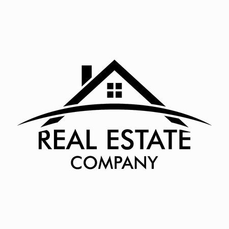 Inmobiliaria, construcción y diseño de la insignia del vector de Inversiones