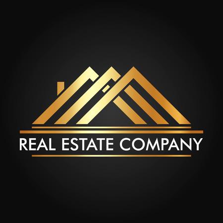 Nieruchomości, Budownictwa i Inwestycji wektorowa Logo Design