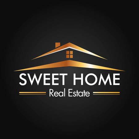 logos de empresas: Inmobiliaria, construcción de vectores Logo Design Vectores
