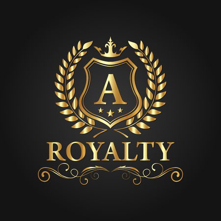 Royal Brand Logo Design Luxury Logo Vector Eps 10 Иллюстрация
