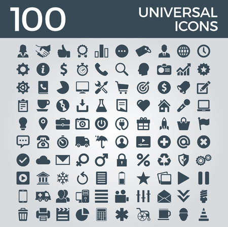 Set Of Icons, Quality Icon Collection Vector Design