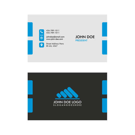 Vector Modern and Simple Business Card Template EPS 10