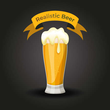 Vector illustration of a Realistic Beer glass Vector Eps 10