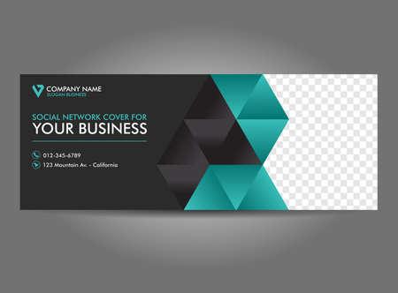 Cover Web Banner Social Media Design Template Vector