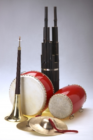 chinese drum: Group of musical instrument
