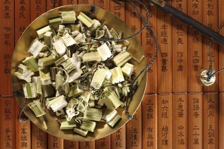 studio shots: Chinese herbal medicine Stock Photo
