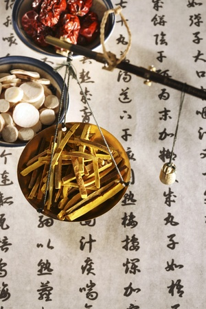 Chinese herbal medicine Standard-Bild