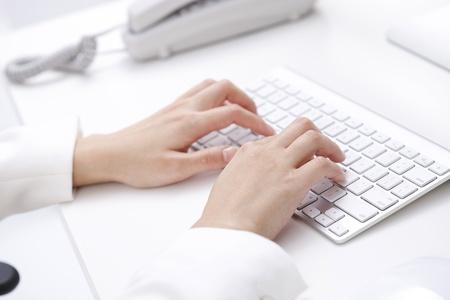 mecanografía: usando el teclado Foto de archivo