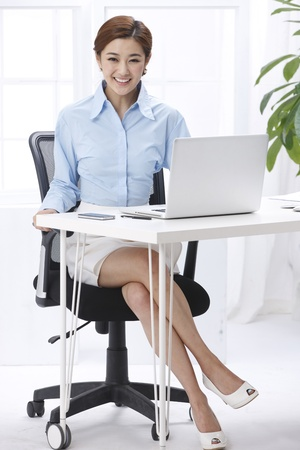 using voice: Businesswoman