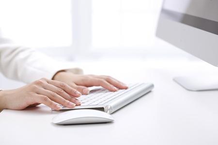 typing: Mujer de negocios