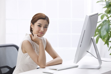 writing desk: Businesswoman