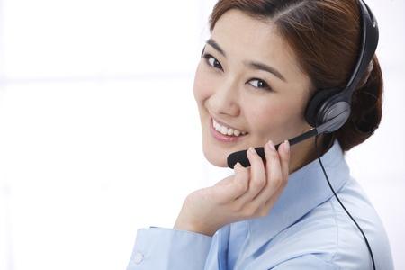 headset voice: Businesswoman