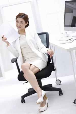 skirt up: Businesswoman