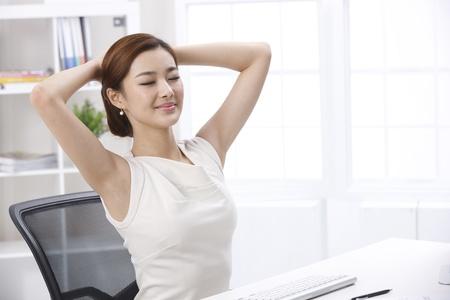 sitting up: Businesswoman