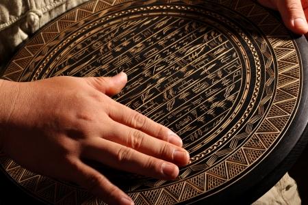 craftsmanship: Hand touching carvings