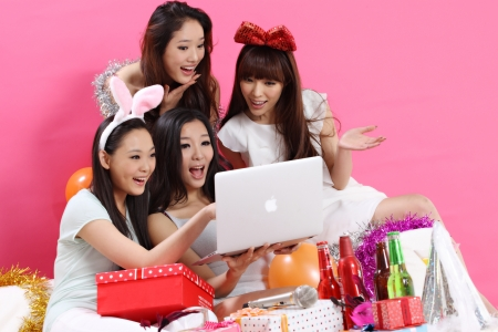 party time together with young group Stock Photo - 15854274