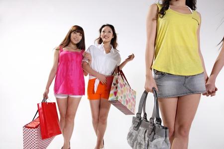 go shopping: young women go shopping