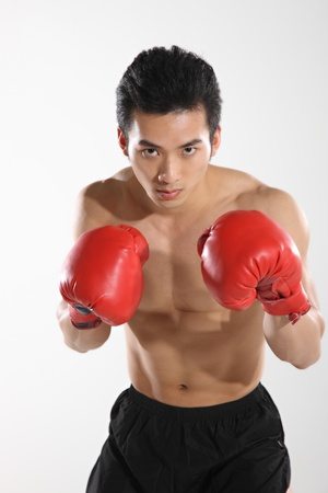 Portrait of male boxer  Stock Photo