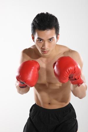 Portrait of male boxer  Stock Photo