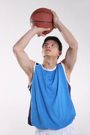 well build: Basketball player  Stock Photo