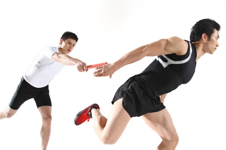 Male runners,close-up  Stock Photo