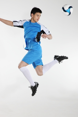 Man playing football  photo
