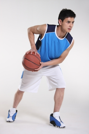 asian youth: Basketball player  Stock Photo