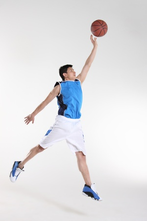 athleticism: Basketball player  Stock Photo