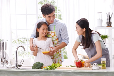 family in kitchen Stock Photo - 16191146