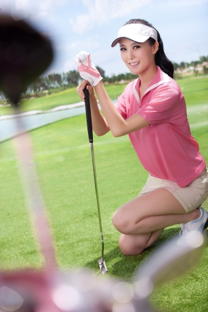 Asian woman play golf Stock Photo - 16622405