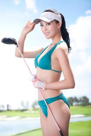Sexy golfing Stock Photo - 16622387