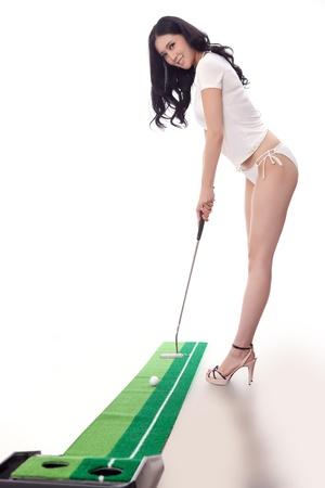 Sexy golfing Stock Photo - 16622254