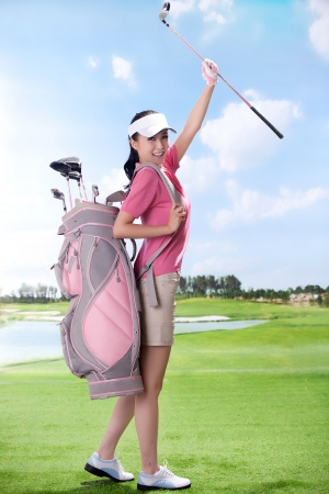 Asian woman play golf Stock Photo - 16622391