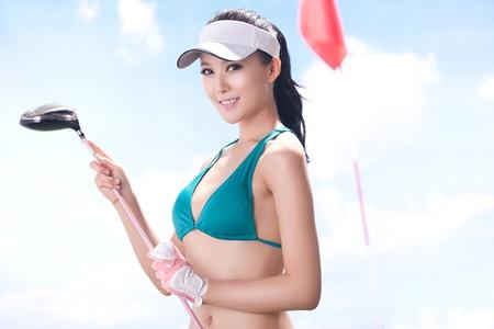 Sexy golfing Stock Photo - 16622260