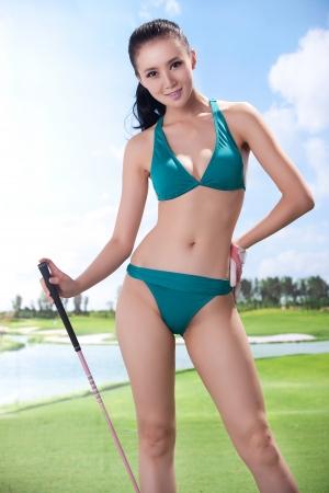Sexy golfing Stock Photo - 16622386