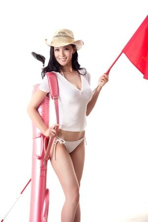 Sexy golfing Stock Photo - 16622261