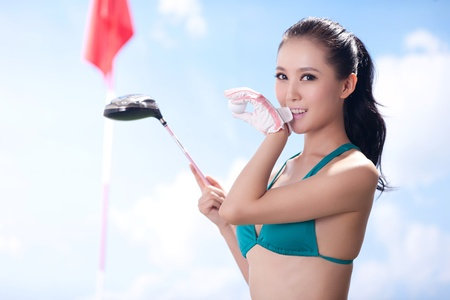 Sexy golfing Stock Photo - 16622262