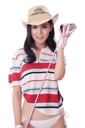 Sexy golfing Stock Photo - 16622393