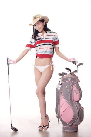 Sexy golfing Stock Photo - 16622357