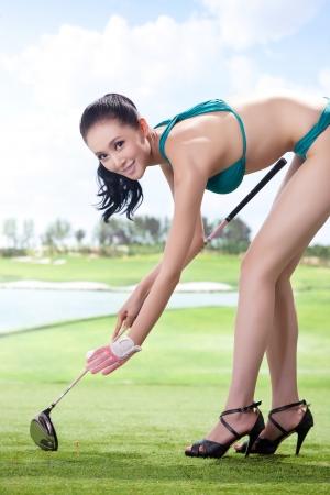 Sexy golfing Stock Photo - 16622389