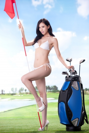 Sexy golfing Stock Photo - 16622381