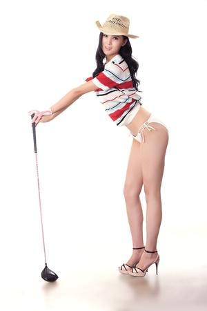 Sexy golfing Stock Photo - 16622270